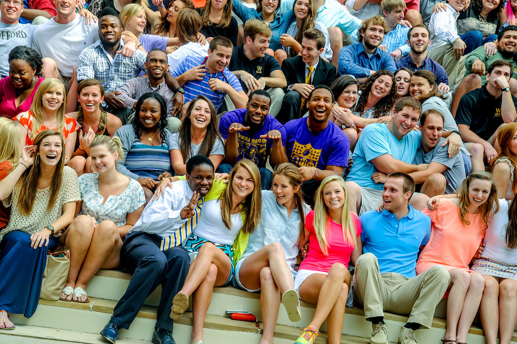 Class of 2014 on steps of Old Main